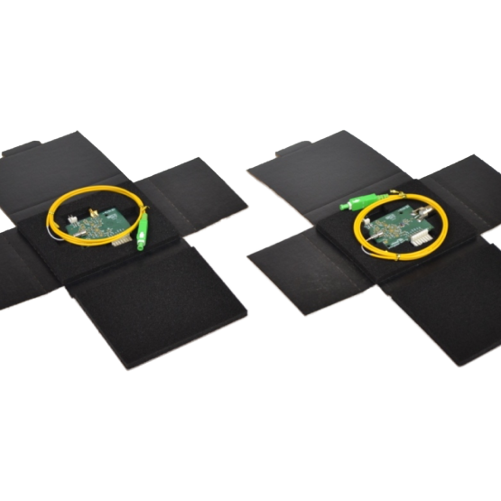 CCI's Fiber Optics Folder Shipper Delivers Excellent Protection From Physical Damage, Static and Tangle Resistance For High Value Fiber Optic Compontents.