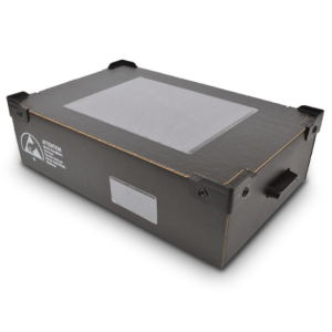 Corstat Conductive Corrugated Tote For Static Safe Handling